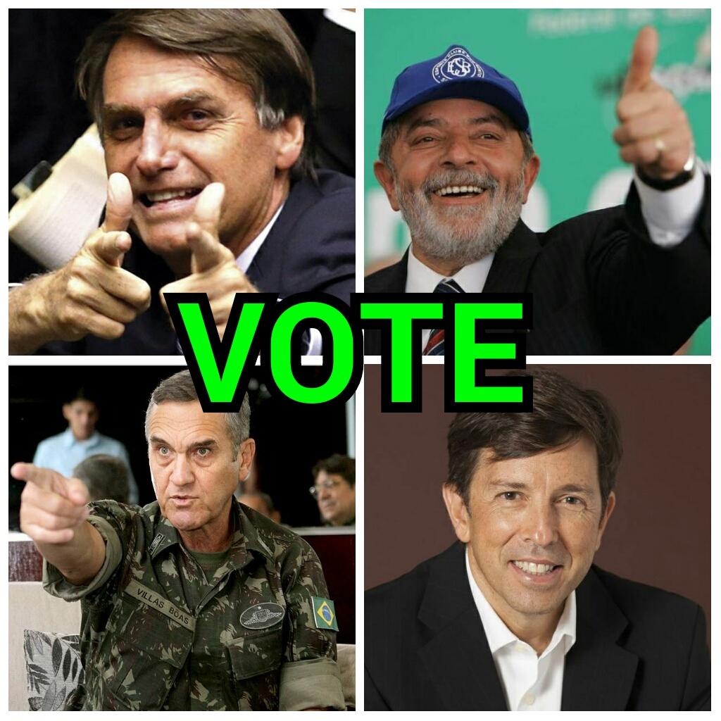 Votação: Qual é a melhor opção ideológica e de liderança, para recolocar o Brasil no eixo a partir das eleições de 2018?